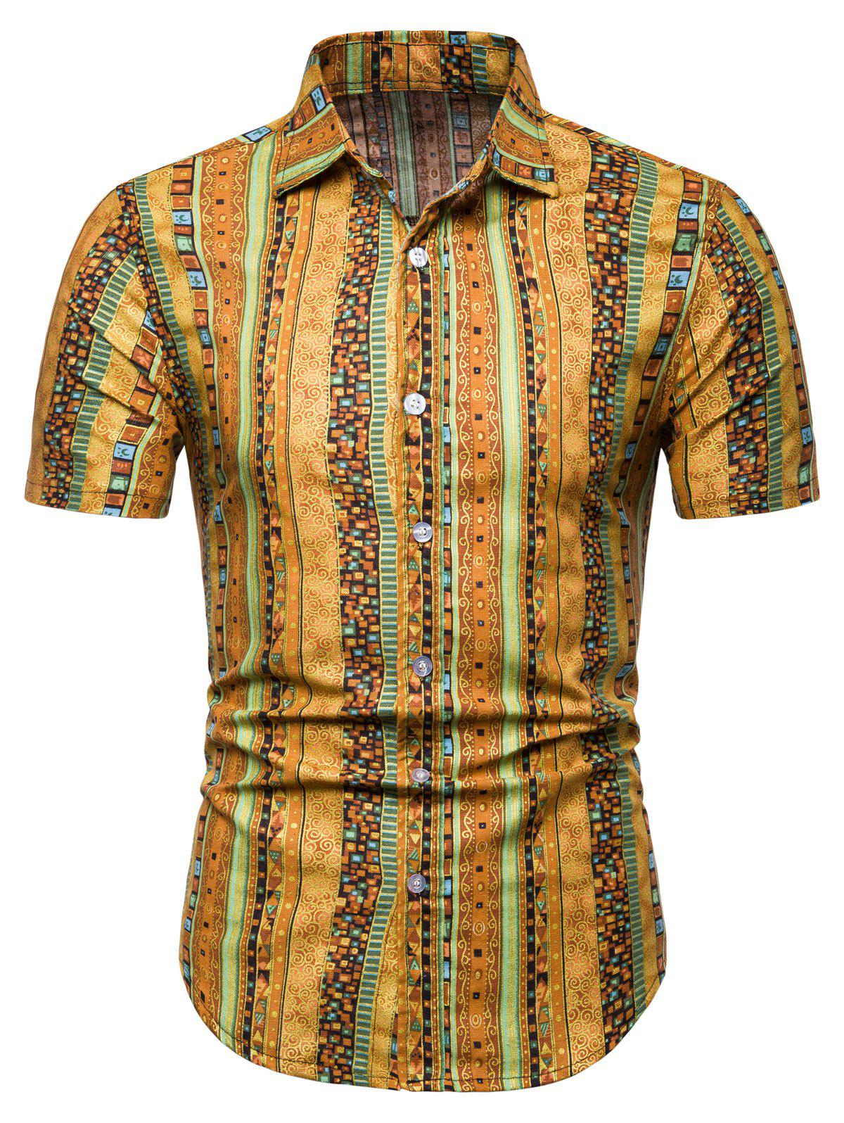 Jacquard Print Short Sleeve Shirt