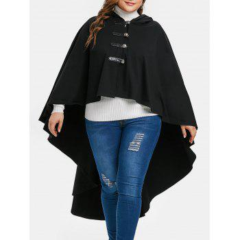 Halloween Plus Size Hooded High Low Coat