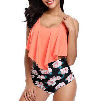 """<P>Floral Print Overlay Tankini Set</P><I Class=""""Icon Down Js Tap Up Down""""></I> by Dress Lily"""