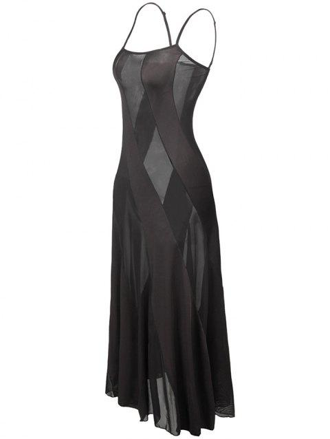 T Back Voile Panel Plus Size Night Dress