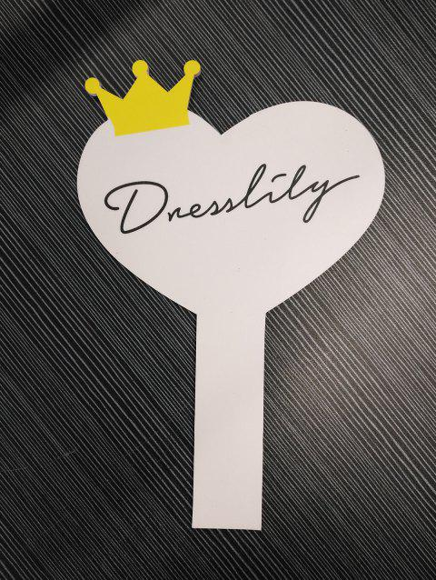 DressLily Logo Heart Shape KT Board - WHITE