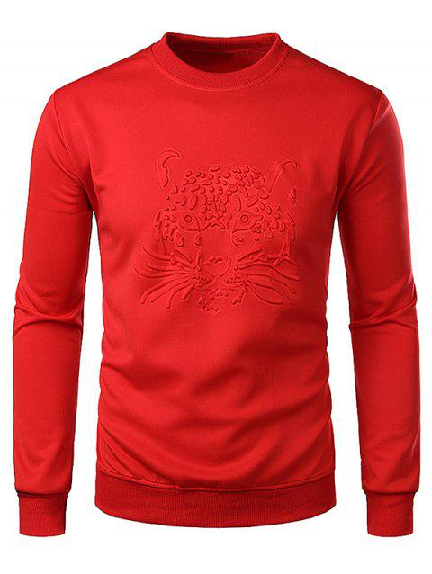9db4d378 2019 Leopard Head Pattern Long Sleeve T Shirt In ROSSO RED XL ...