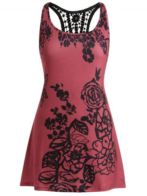 6abc78b0e8f9c CUSTOM  2019 Plus Size See Thru Lace Panel Top In RED WINE 1X ...
