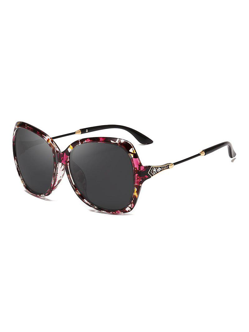 Butterfly Shape Decorated Polarized Sunglasses - TAUPE
