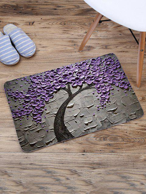 Plant Pattern Printed Rug - PURPLE IRIS 60*40CM