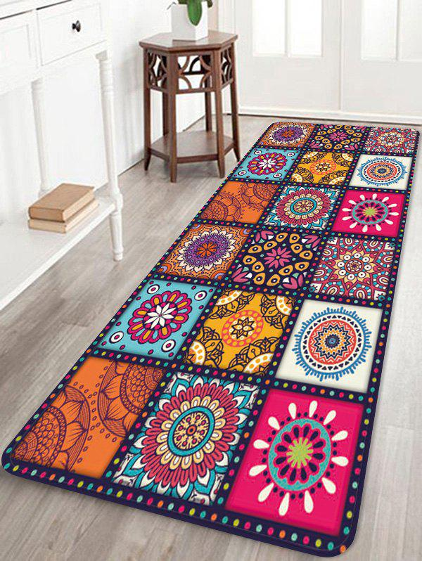 Bohemian Style Floral Pattern Rug -