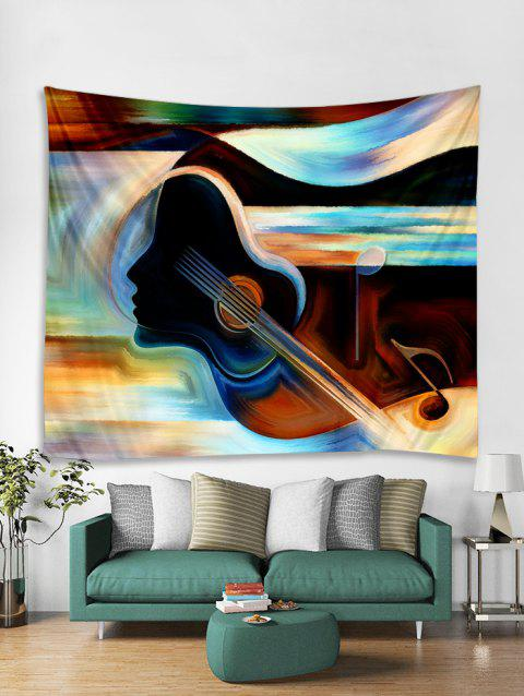 Guitar Painting Print Tapestry Wall Hanging Art Decoration