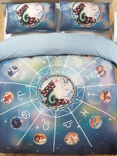 Capricorn Print 3PCS Bedding Set - multicolor A QUEEN SIZE