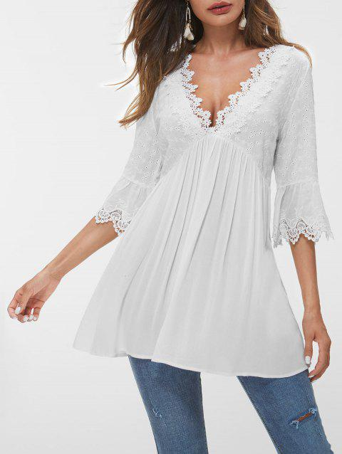 567b2222 2019 White Blouse Bell Sleeve Best Online For Sale | DressLily