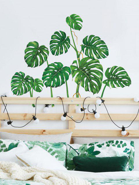 Palm Leaf Print Wall Art Stickers - multicolor