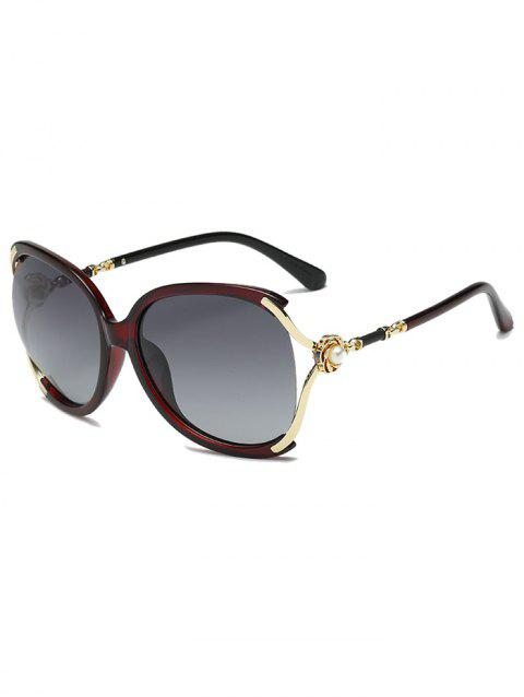 European Style Decorative Oversize Sunglasses - RED
