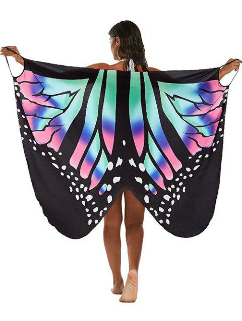 Multi-way Butterfly Wrap Sarong Cover Up - multicolor XL