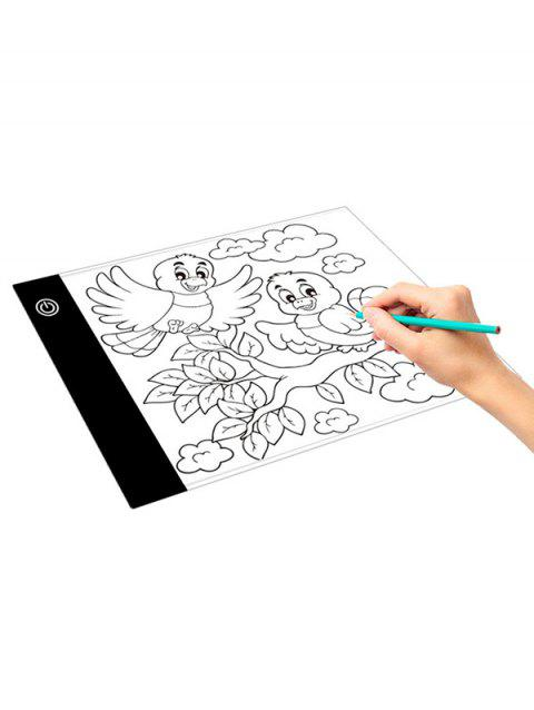 Ultra-thin Portable Dimmable A5 Copy Table Stepless Dimming LED Anime Writing Board Painting Drawing Board - WHITE