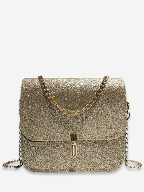 Star Design Sequins Decoration Crossbody Bag - GOLD