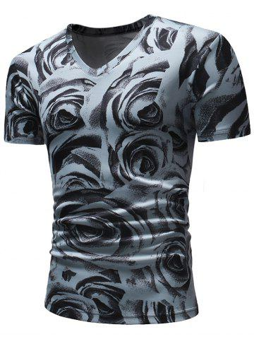 21c6e7599b10 2019 Mens Flower Print T Shirt Online Store. Best Mens Flower Print ...