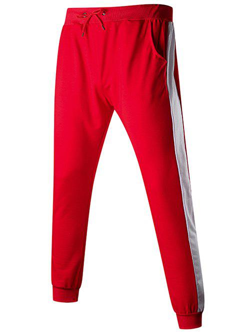 Contact Color Drawstring Jogger Pants - multicolor F 2XL