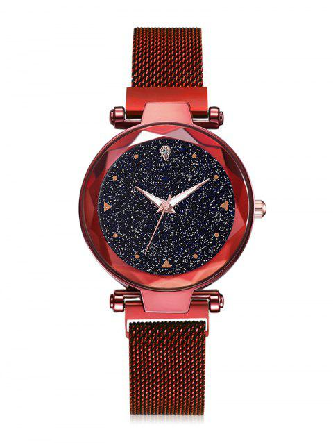 Starry Sky Noble Magnetic Buckle Quartz Watch - RED
