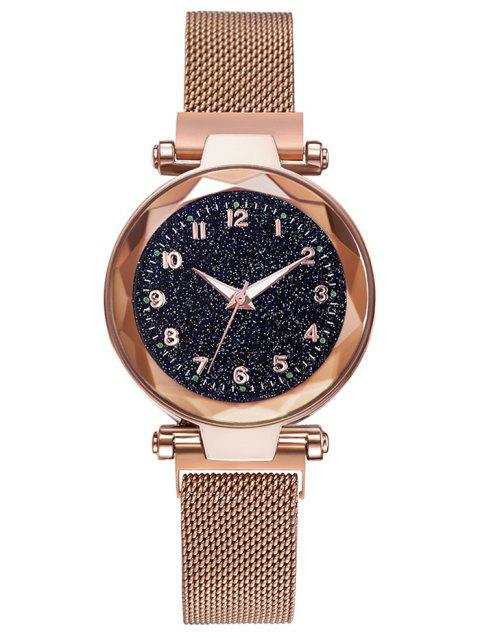 Noble Galaxy Pattern Quartz Watch - GOLD