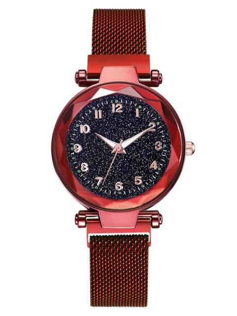 Noble Galaxy Pattern Quartz Watch - RED