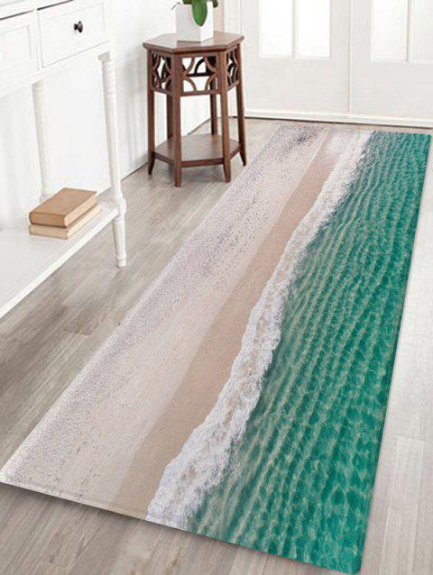 Sea Beach Pattern Floor Rug - multicolor A W24 X L71 INCH