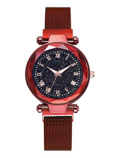 Starry Sky Luminous Quartz Watch - RED
