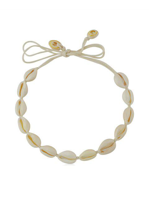 Shell Rope Beach Necklace - BEIGE