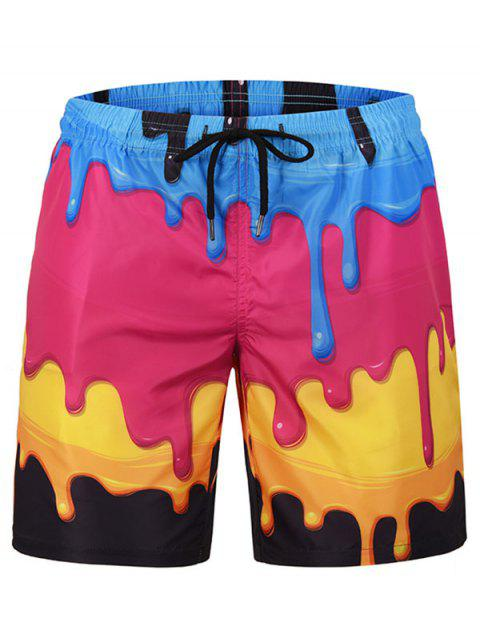Leisure Printed Drawstring Board Shorts - multicolor XL