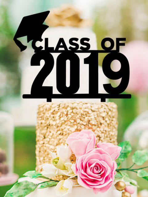 2019 Graduated Cake Sign Decoration - BLACK