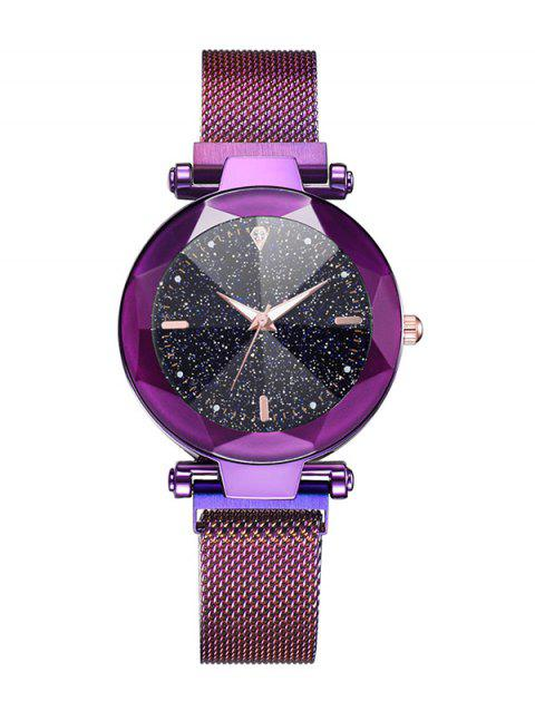 Luminous Diamond Shape Starry Quartz Watch - PURPLE