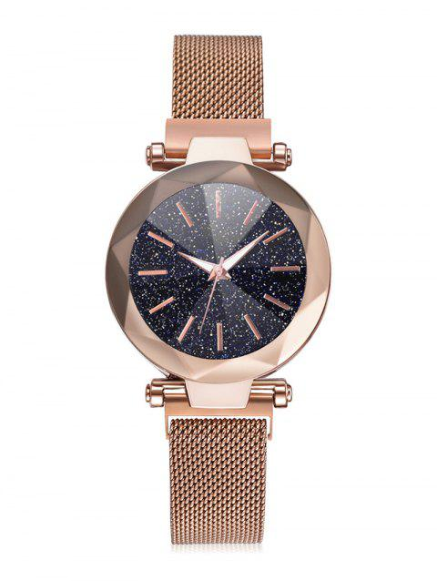Starry Dial Magnetic Buckle Quartz Watch - GOLD