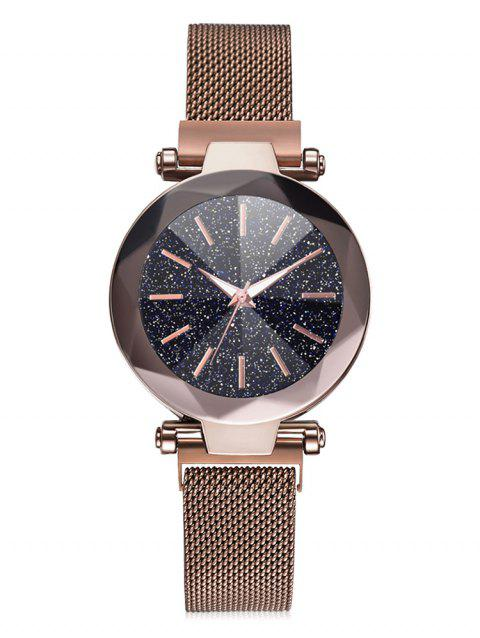 Starry Dial Magnetic Buckle Quartz Watch - COFFEE