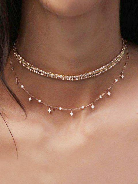 Layered Chain Choker Necklace