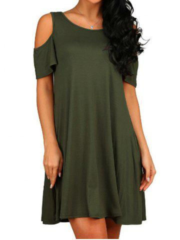 3f018343f4d13 2019 Green Cold Shoulder Dress Online Store. Best Green Cold ...