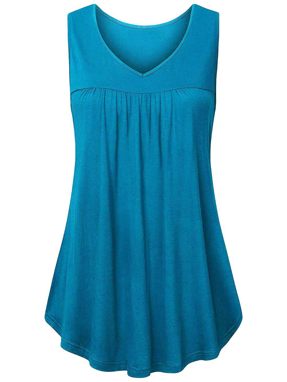 Solid Tank Top - BLUE IVY 2XL