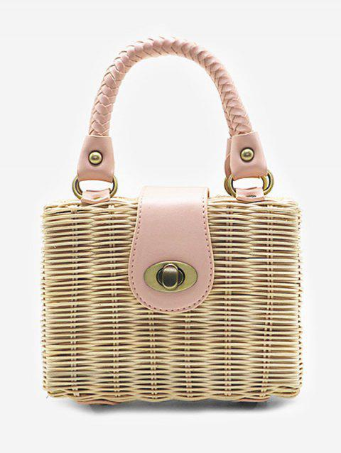 Mini Sac à Main en Paille - Beige