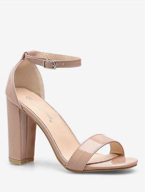 Simple Buckled High Heel Sandals - APRICOT EU 40