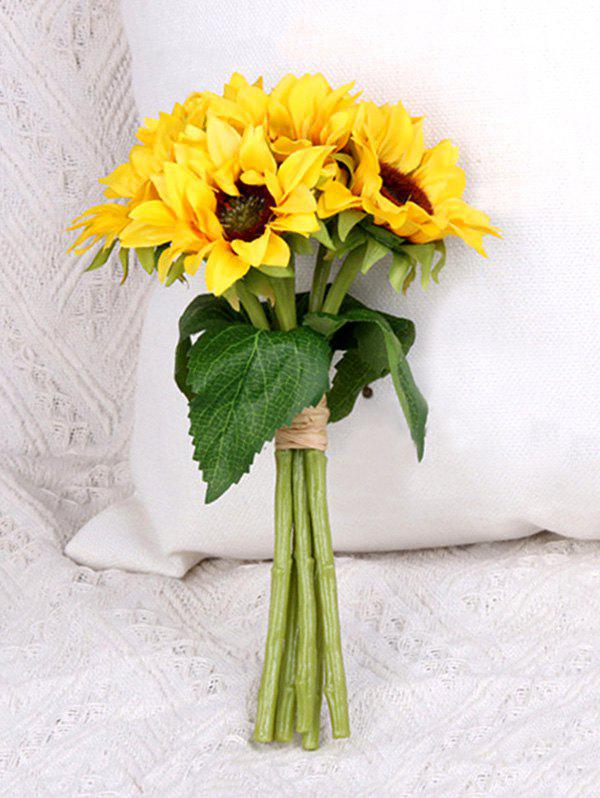 Home Decoration 6 Pcs Artificial Sunflowers - YELLOW