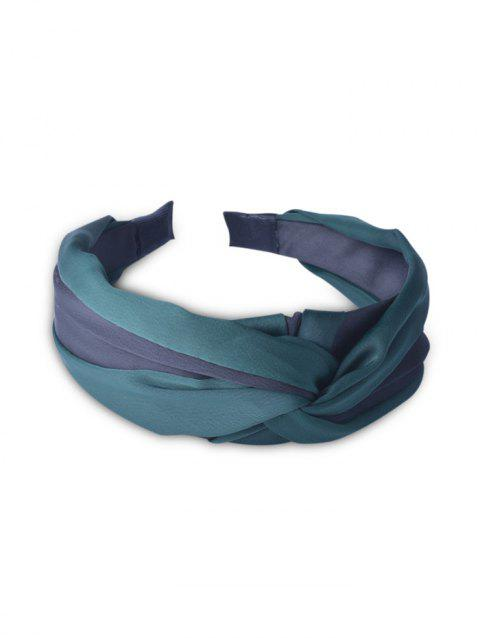 Color Block Knotted Hair Band - DARK GREEN