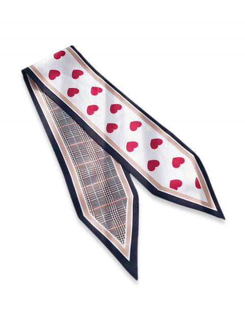 Houndstooth Heart Double Face Scarf - RED