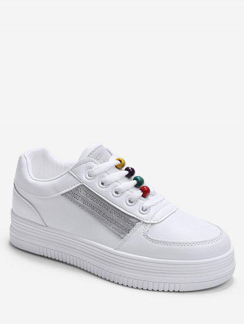 Rainbow Beads Platform Sports Shoes - GRAY EU 37