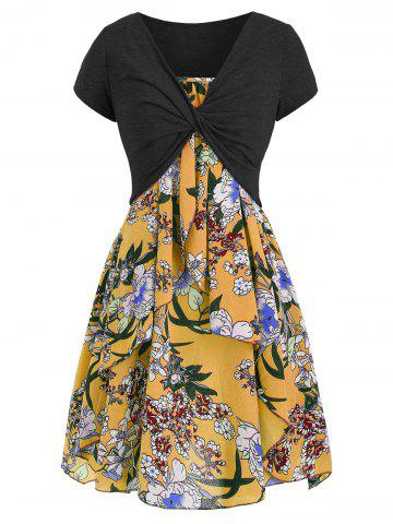 41be52f4e188 2019 Yellow Floral Dress Online Store. Best Yellow Floral Dress For ...
