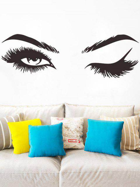 Eyes and Brow Print Wall Art Stickers - BLACK