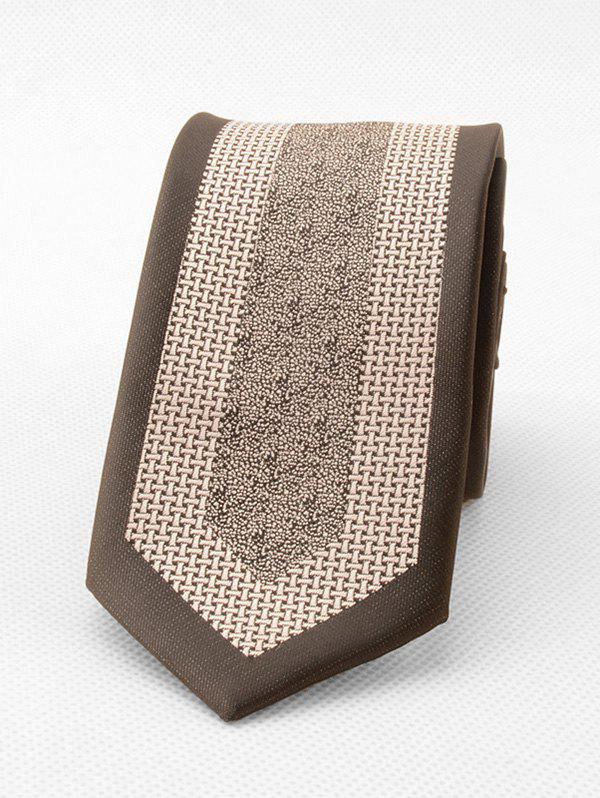 Formal Yarn Dyed Patterned Neck Tie - TAN