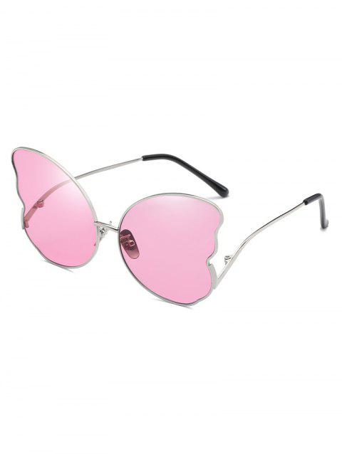 Butterfly Shape Metal Frame Stylish Sunglasses - PIG PINK