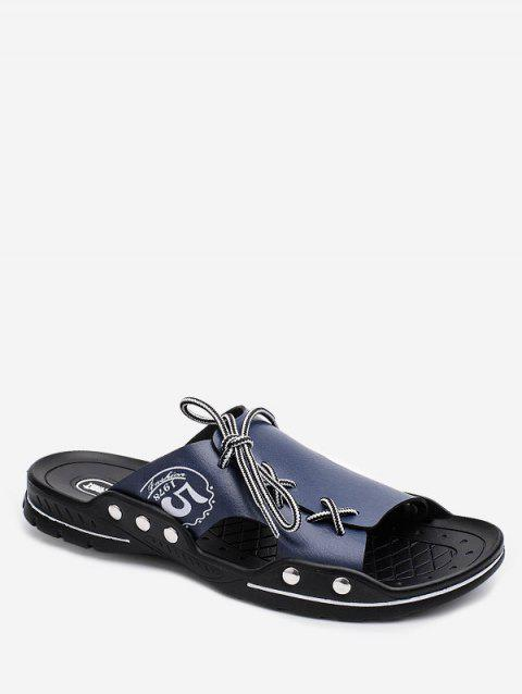 Lace Up Design Comfortable Slides - BLUE EU 38
