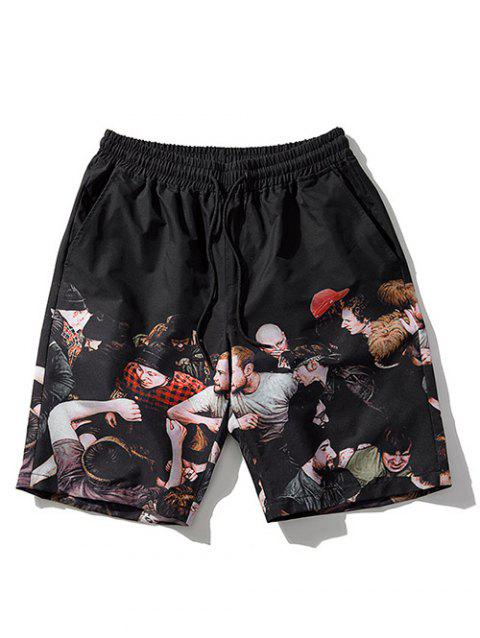 Graphic Board Shorts - BLACK XL