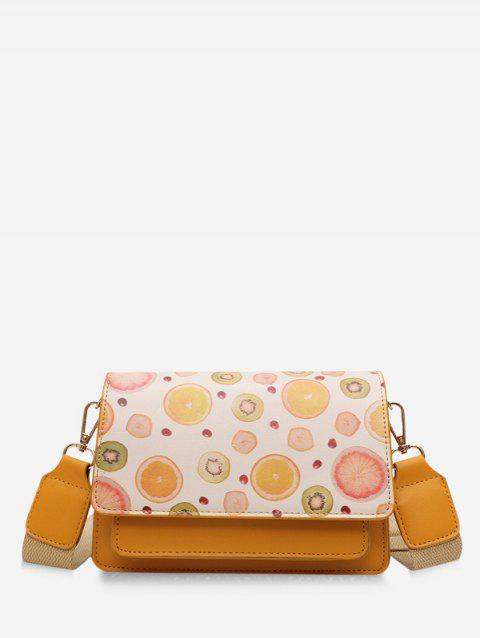 Sac à Bandoulière Motif de Fruit en Cuir PU - Orange