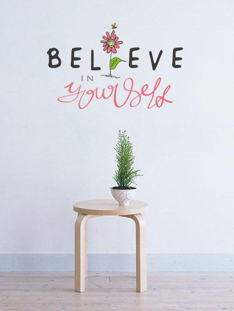 Believe In Yourself Print Wall Art Stickers - multicolor