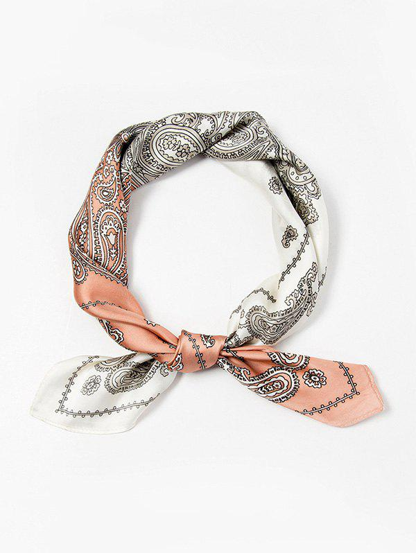 Paisley Print Square Scarf - PINK