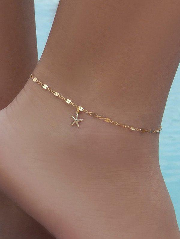 Brief Small Starfish Pendant Anklet - GOLD